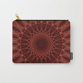 Brown and red mandala Carry-All Pouch