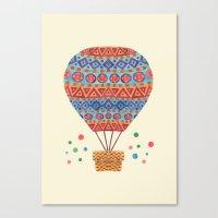 hot air balloon Canvas Prints featuring Hot Air Balloon by haidishabrina