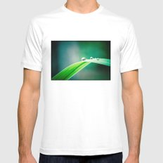 of green and blue MEDIUM White Mens Fitted Tee
