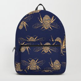 Golden and Silver Bees Backpack