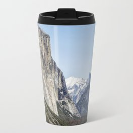 El Capitan, Half Dome and Sentinel Rock from Tunnel View Travel Mug