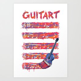 GuitArt Art Print