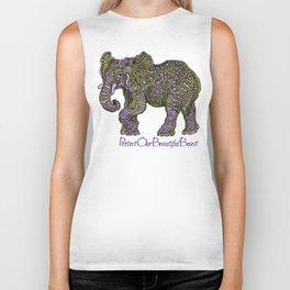Elephant~  beautiful beast Biker Tank