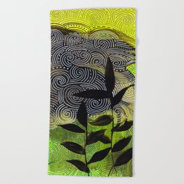 flow flower flow Beach Towel