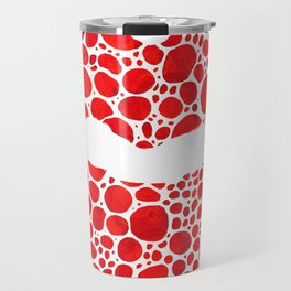 Red Lips Art - Big Kiss - Sharon Cummings Travel Mug