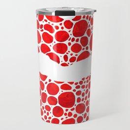 Red Lips Art - Big Kiss - Sharon Cummings Travel Mug