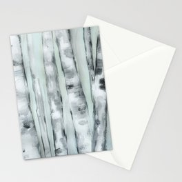 Birch trees in winter Stationery Cards