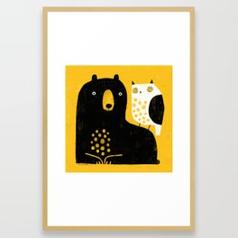 BEAR & OWL Framed Art Print