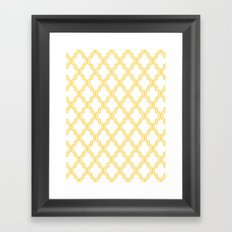 Yellow Moroccan Framed Art Print