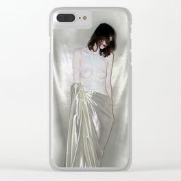 """say no to patriarchy / """"the discipline"""" Clear iPhone Case"""