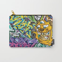 PAGER Collage Royal Stain Carry-All Pouch