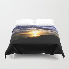 Sunrise over Port Philip Bay - Melbourne Duvet Cover