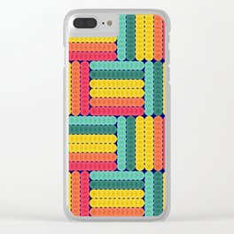 Soft spheres pattern Clear iPhone Case