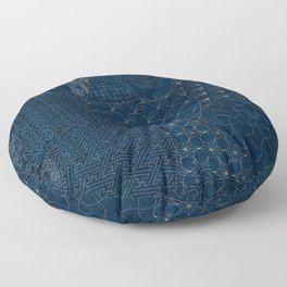 Sashiko - random sampler Floor Pillow