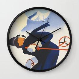 Ski Austria Wall Clock