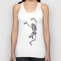 tupac Tank Tops featuring Dancer Skeleton by Hottest Dog In Town