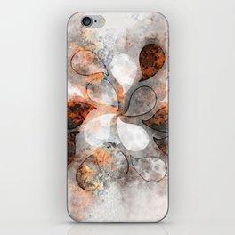 Metallic water drops iPhone Skin