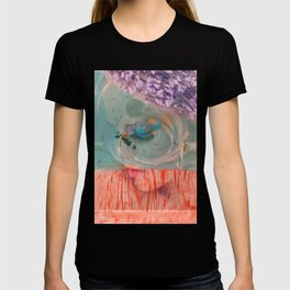 lavender, blue & peach portrait T-shirt