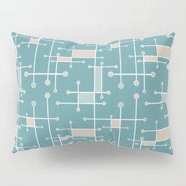 Intersecting Lines in Teal, Tan and Sea Foam Pillow Sham