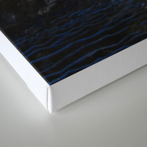 black sea and moon Canvas Print