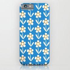 Summer retro flowers Slim Case iPhone 6s