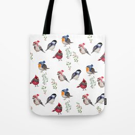 Birds of a Christmas feather Tote Bag
