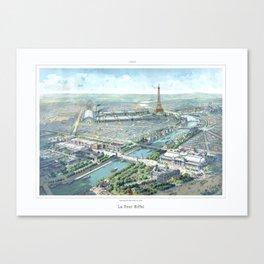 Paris art print Paris Decor office decoration vintage decor eiffel tower of Paris Canvas Print