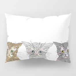 Triple Kitties Pillow Sham