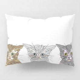 Triple Kitties Pillow Sham