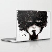 la Laptop & iPad Skins featuring La veuve affamee by Ludovic Jacqz