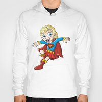 supergirl Hoodies featuring Supergirl! by neicosta