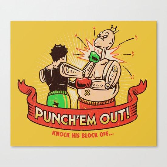 Punch'em Out Canvas Print