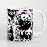 pandas Mugs featuring Pandas by beach please
