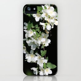 White Flower Cascade iPhone Case
