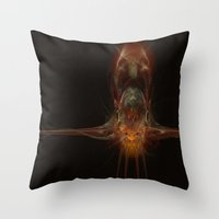 squid Throw Pillows featuring SQuid  by Def Warsawvoice