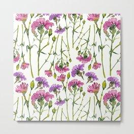 Carnation pinky flory pattern design Metal Print