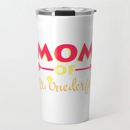 Womens Funny Mom of MR. Onederful Tshirt Mom of MR Onederful Wonderful Funny 1st Birthday Boy Travel Mug