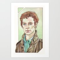cumberbatch Art Prints featuring Benedict Cumberbatch by Jess P.