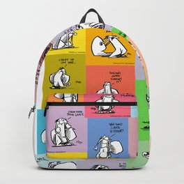 collage of bob Backpack