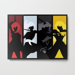 Silhouetted Huntresses Metal Print