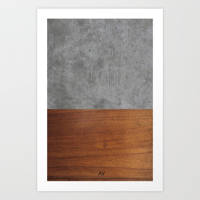 Concrete and Wood Luxury Kunstdrucke