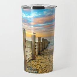 Cromer Beach at Sunset Travel Mug