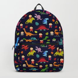 heroes and dinosaurs Backpack