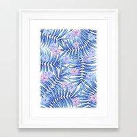 hawaiian Framed Art Prints featuring Hawaiian Pattern by Marta Olga Klara