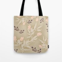 vintage flowers Tote Bags featuring vintage flowers by Julia Tomova
