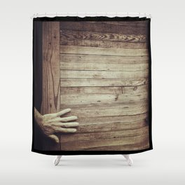 Knock on Wood Shower Curtain