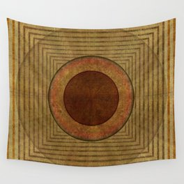 """""""Golden Circle Japanese Vintage"""" Wall Tapestry"""