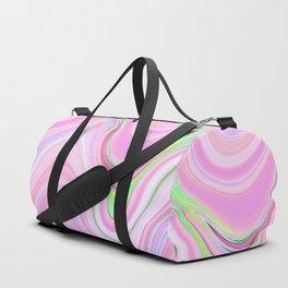 Pastel Pink & Violet Lava Marble Duffle Bag