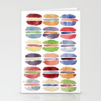 macaron Stationery Cards featuring Macaron by Marta Li