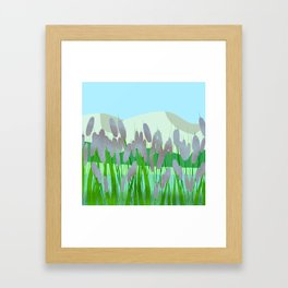 Near to river Framed Art Print
